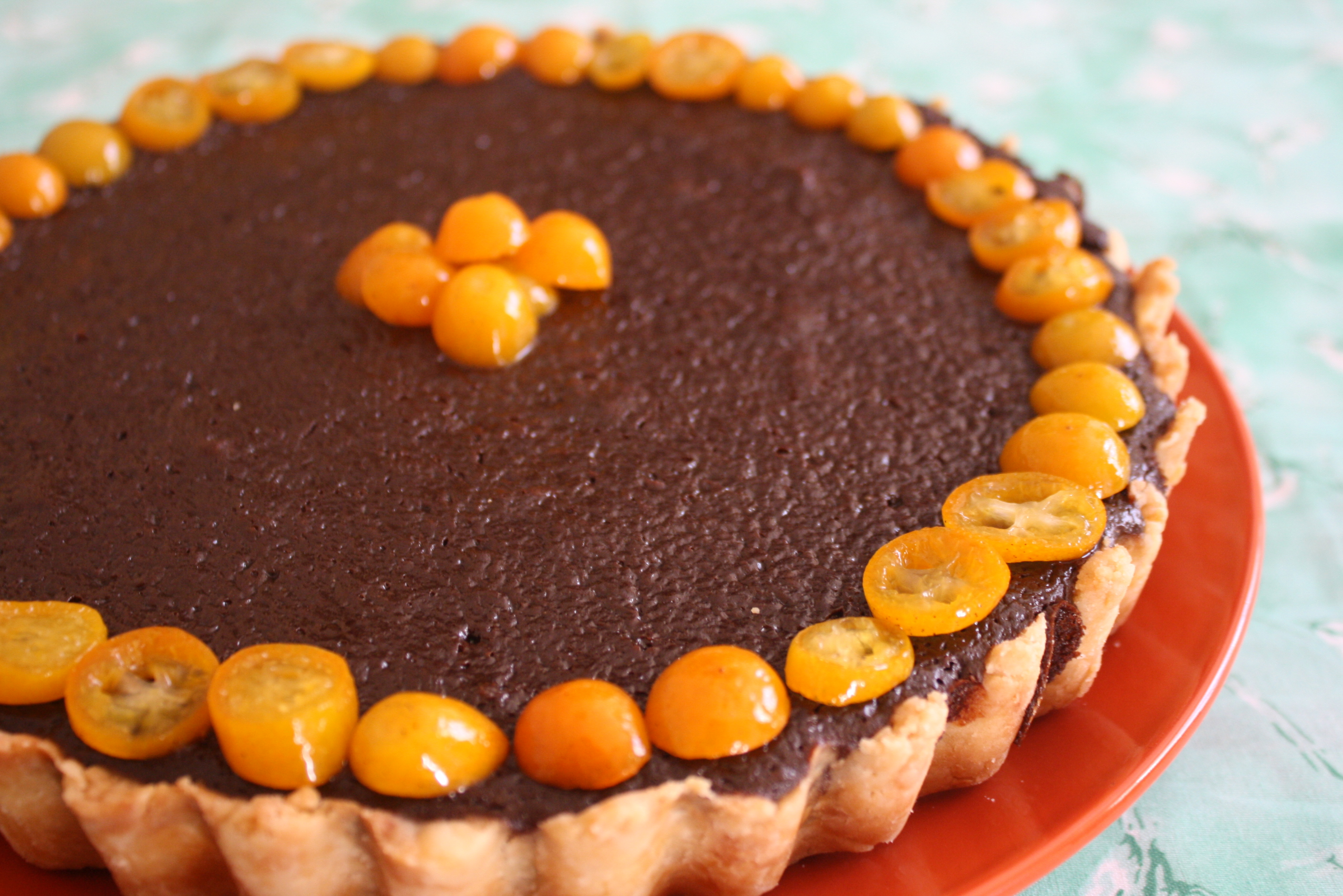 Dolce: Chocolate Tart with Candied Kumquats | Mezze & Dolce